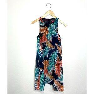 Vince Camuto Blue Multi Tropical Mini Dress